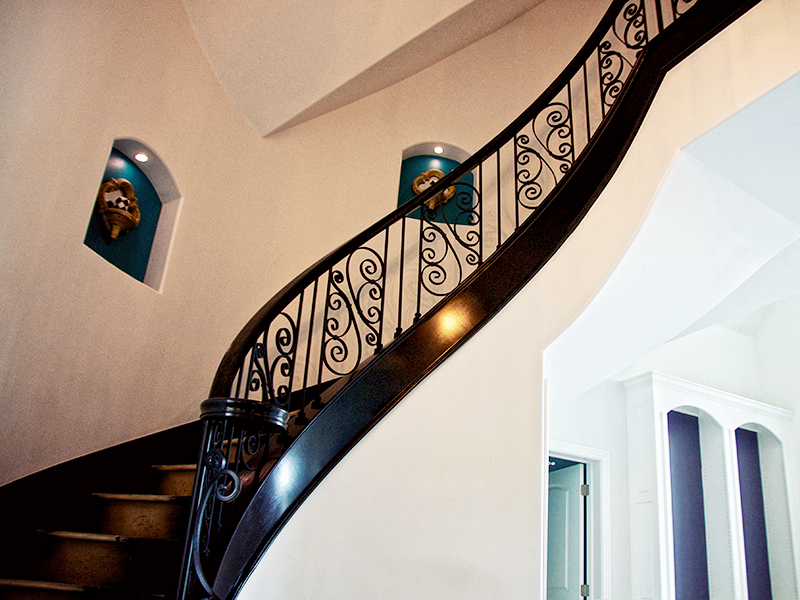 Custom Staircase Iron Railing